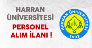 Harran Üniversitesi Personel Alımı Yapıyor !