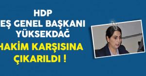 HDP Eş Genel Başkanı Yüksekdağ Hakim Karşısında