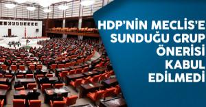 HDP'nin Meclis Genel Kuruluna Sunduğu Grup Önerisi Kabul Edilmedi