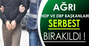 HDP ve DBP Ağrı İl Başkanları Serbest Bırakıldı