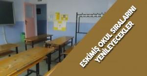 """Hükümlülerden Örnek Proje """"Eskimiş Okul Sıralarını Yeniliyorlar"""""""
