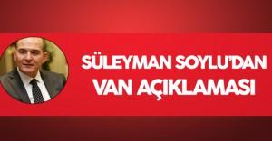 İçişleri Bakanı'ndan Van Açıklaması Geldi