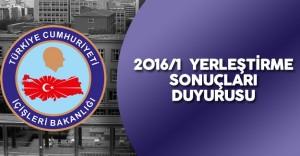 İçişleri Bakanlığı 2016/1 KPSS Yerleştirme Sonuçları ile İlgili Önemli Duyuru