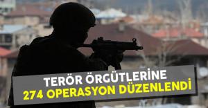 İçişleri Bakanlığı Terör Örgütlerine Yönelik 274 Operasyon Düzenlendiğini Açıkladı