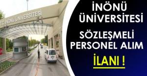İnönü Üniversitesi 25 Sözleşmeli Personel Alıyor