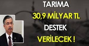 İsmet Yılmaz Tarıma 30,9 Milyar Türk Lirası Destek Verileceğini Açıkladı