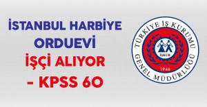 İstanbul Harbiye Orduevi İşkur Aracılığıyla İşçi Alımı Yapıyor