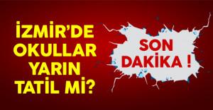 İzmir'de Okullar 11 Ocak'ta Tatil Edildi