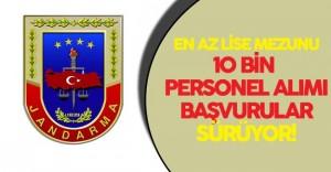 Jandarma 10 Bin Personel Alımı için Başvurular Sürüyor