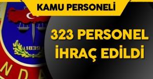 Jandarma 'da 12 'si Albay 323 Personel Kamudan İhraç Edildi