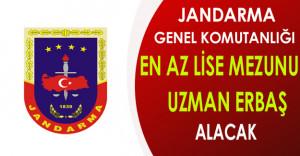 Jandarma Genel Komutanlığı En Az Lise Mezunu Uzman Erbaş Alacak