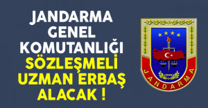 Jandarma Genel Komutanlığı sözleşmeli uzman erbaş alımı yapacak