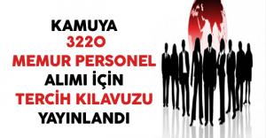 Kamuya 3220 Memur Personel Alımı İçin Tercih Kılavuzu DPB Tarafından Yayınlandı