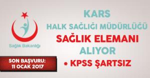 Kars Halk Sağlığı Müdürlüğü 2017/1 Aile Sağlığı Elemanı Alıyor