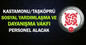 Kastamonu/Taşköprü SYDV Personel Alıyor