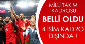 Kosova Maçında Milli Takımın Kadrosu Belli Oldu! 4 İsim Kadro Dışı Kaldı