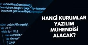 KPSS 2016/1 ile Yazılım Mühendisi Alımı Yapacak Kamu Kurum ve Kuruluşları