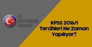 KPSS 2016/1 Tercihleri Ne Zaman Yapılıyor? ( DPB Kamu Personeli Seçme Sınavı Yerleştirme Takvimi )