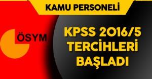 KPSS-2016/5 (Çevre Ve Şehircilik Bakanlığı) Sözleşmeli Personel Alımı Tercihleri Başladı