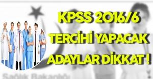 DPB'den KPSS 2016/6 Tercih İşlemleri Duyurusu