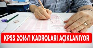 KPSS 2016-1 Kadroları Açıklanıyor