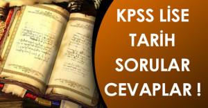 KPSS 2016 Ortaöğretim/Lise Tarih Soruları, Cevapları ve Aday Yorumları (Kolay mıydı, zor muydu?)