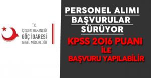 KPSS 2016 Puanı ile Göç İdaresi Genel Müdürlüğü Personel Alımına Başvurular Mümkün