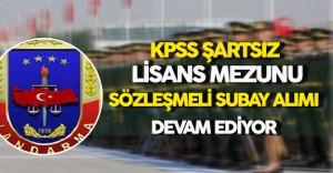 KPSS Şartsız Lisans Mezunu Sözleşmeli Subay Alımı Başvuruları Sürüyor