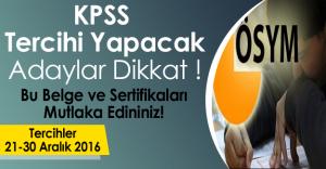 KPSS Tercihi Yapacak Adaylar Dikkat! Bu Belge ve Sertifikalara Sahip Olanlar Daha Şanslı