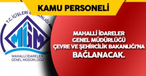 Mahalli İdareler Genel Müdürlüğü İçişleri Bakanlığı Bünyesinden Ayrılıyor