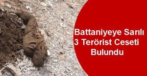 Mardin'de 3 Teröristin Battaniyeye Sarılı Cesedi Bulundu