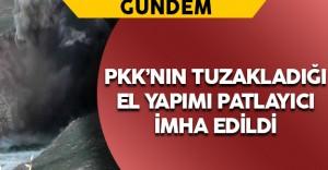Mardin'de Yola Tuzaklanan Patlayıcı İmha Edildi