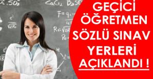 MEB 4200 Öğretmen Alımı Sözlü Sınav Yerleri Açıklandı