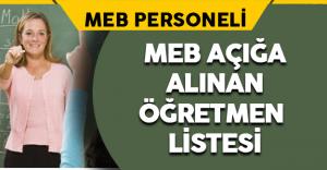 MEB Açığa Alınan Öğretmen Listesi