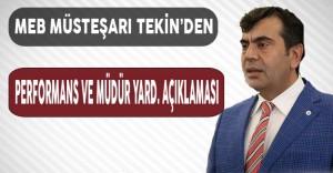 MEB Müsteşarı Yusuf Tekin'den Müdür Yardımcılığı Sınavı ve Performans Açıklaması Geldi