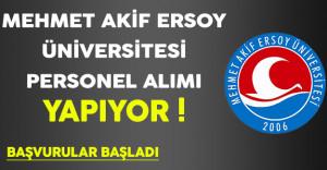 Mehmet Akif Ersoy Üniversitesi Personel Alımı Yapıyor