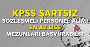 Milli Eğitim Bakanlığı KPSS Şartsız Sözleşmeli Personel Alımı Başvuru Şartları
