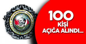MİT'de 100 Kişi Açığa Alındı
