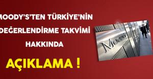 Moody's'ten Türkiye'nin Potansiyel Değerlendirme Takvimi Hakkında Açıklama