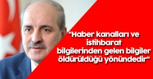 Numan Kurtulmuş Bahoz Erdal'ın Öldürülmesi Hakkında Açıklama Yaptı