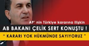 """Ömer Çelik, AP Kararına İlişkin: """" Kararı Yok Hükmünde Sayıyoruz """""""