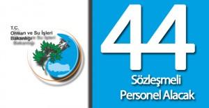 Orman ve Su İşleri Bakanlığı 44 Sözleşmeli Personel Alımı Gerçekleştirecek