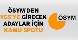 ÖYSM 2017 YGS'ye Girecek Adaylar İçin Kamu Spotu Yayınladı