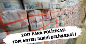 Para Politikası Toplantısı Tarihi Belirlendi