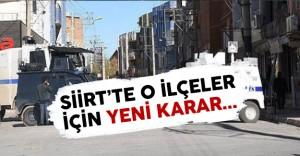 Siirt'te Özel Güvenlik Bölgeleri İçin Yeni Karar !