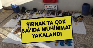 Şırnak Silopi'de Çok Sayıda Mühimmat Yakalandı