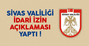 Sivas'ta hamile ve engelli kamu personellerine izin verildi