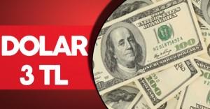 Son Dakika: Dolar 3 TL'nin Üzerini Gördü
