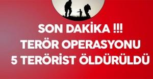 Son Dakika: Hakkari Şemdinli'de Operasyon - 5 Terörist Öldürüldü
