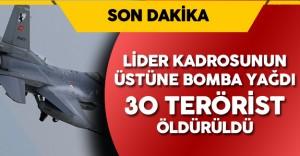 Son Dakika ! Irak'ta Teröristlerin Lider Kadrosunun Üzerine Bomba Yağdı